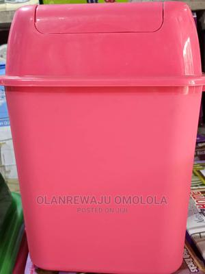 Assorted Plastic Waste Bin 15 Litres With Swing Cover | Home Accessories for sale in Lagos State, Lagos Island (Eko)