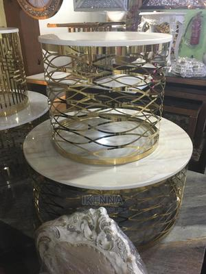 Marble Top Center Table With Side Stools   Furniture for sale in Lagos State, Ojo