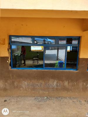 3 Panel Blue Sliding Windows With Fix Light | Windows for sale in Lagos State, Abule Egba