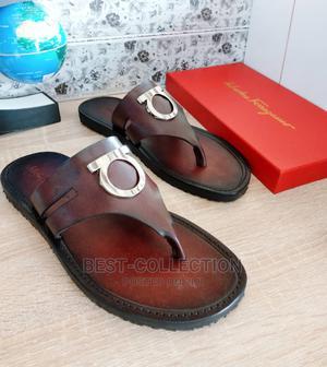 Original Leather Salvatore Ferragmo Palm Slippers   Shoes for sale in Lagos State, Lagos Island (Eko)