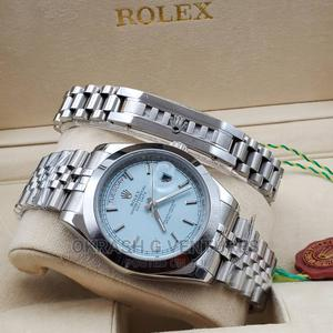 Rolex Oyster Perpetual Silver Chain Watch and Bracelet | Watches for sale in Lagos State, Lagos Island (Eko)
