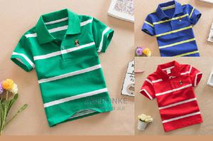 Big Boys' Stripe Polo Shirts - 3 Colour Options | Children's Clothing for sale in Lagos State, Ikeja