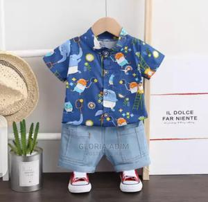 2pcs Baby Boy Cute Set | Children's Clothing for sale in Lagos State, Surulere