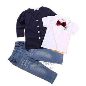 3 Piece Cardigan, Shirt and Pants | Children's Clothing for sale in Lagos State, Ikeja