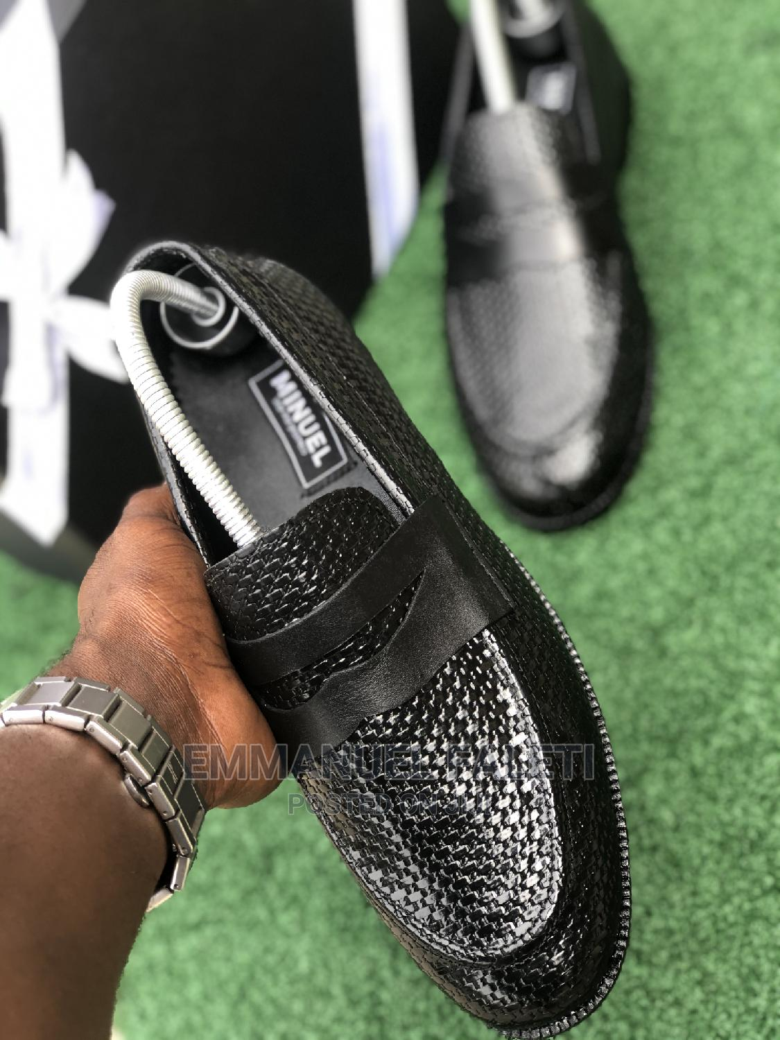 Black Penny Loafers With Basket Leather   Shoes for sale in Mushin, Lagos State, Nigeria