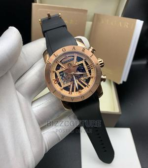 High Quality BVLGARI Michanical Rubber Watch for Men   Watches for sale in Lagos State, Magodo