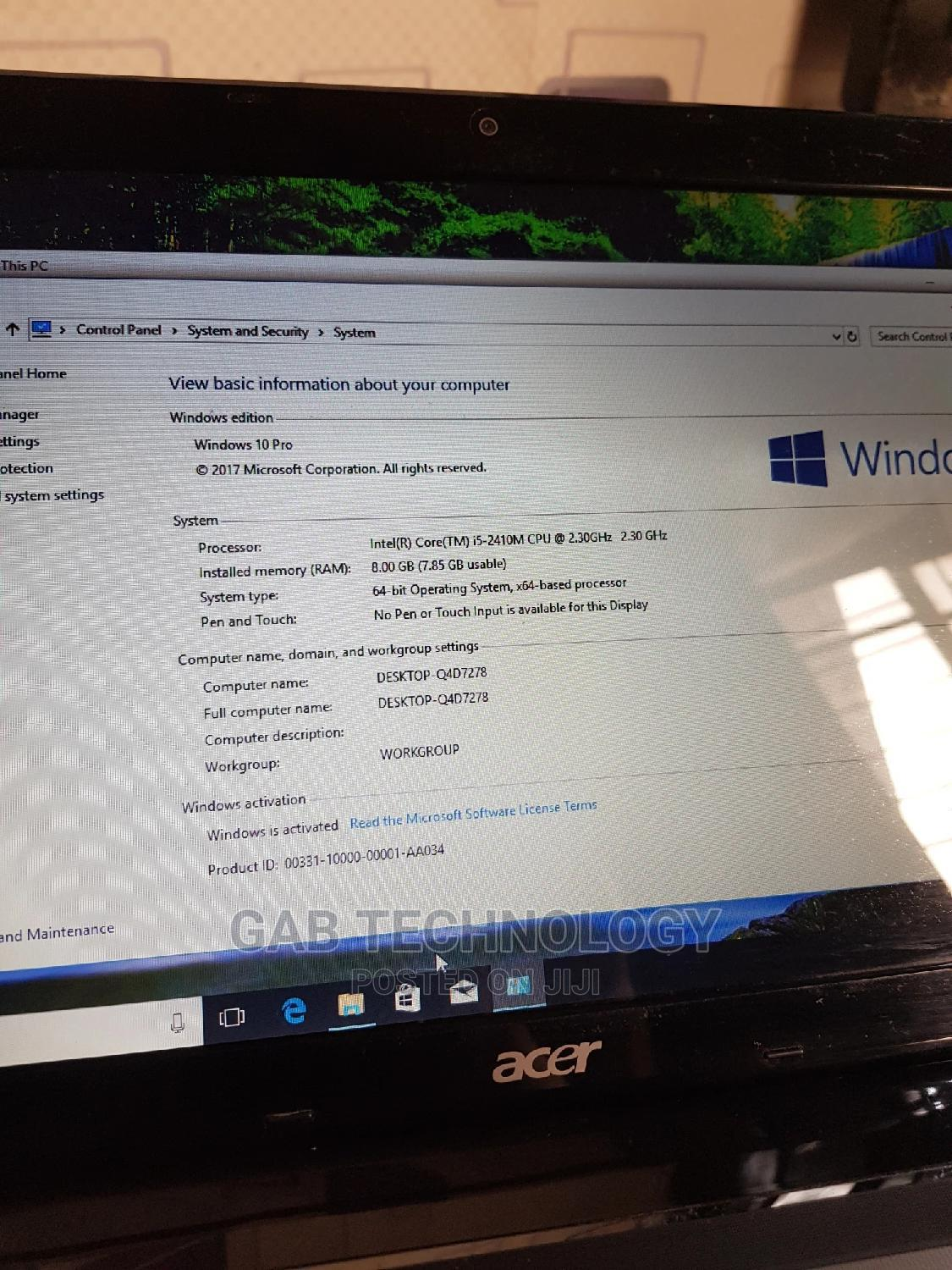 Archive: Laptop Acer Aspire 5750 8GB Intel Core I5 HDD 750GB