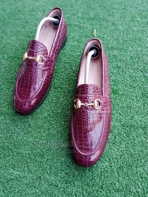 Brown Skin Loafers Witj Chain   Shoes for sale in Lagos State, Mushin