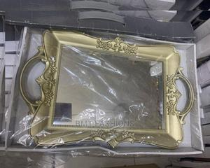 Gold Wall Decor Rectangular Mirror | Home Accessories for sale in Lagos State, Ogba