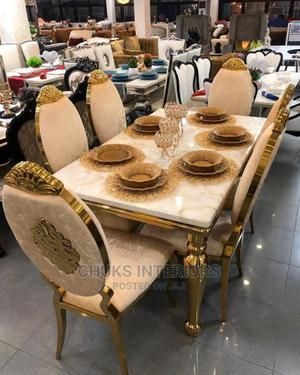 Gold Marble Dining Table Set | Furniture for sale in Lagos State, Eko Atlantic