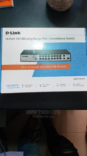 D-Link 16port 10/100 Long Rnge POE+Surveillance Switch | Networking Products for sale in Lagos State, Ikeja