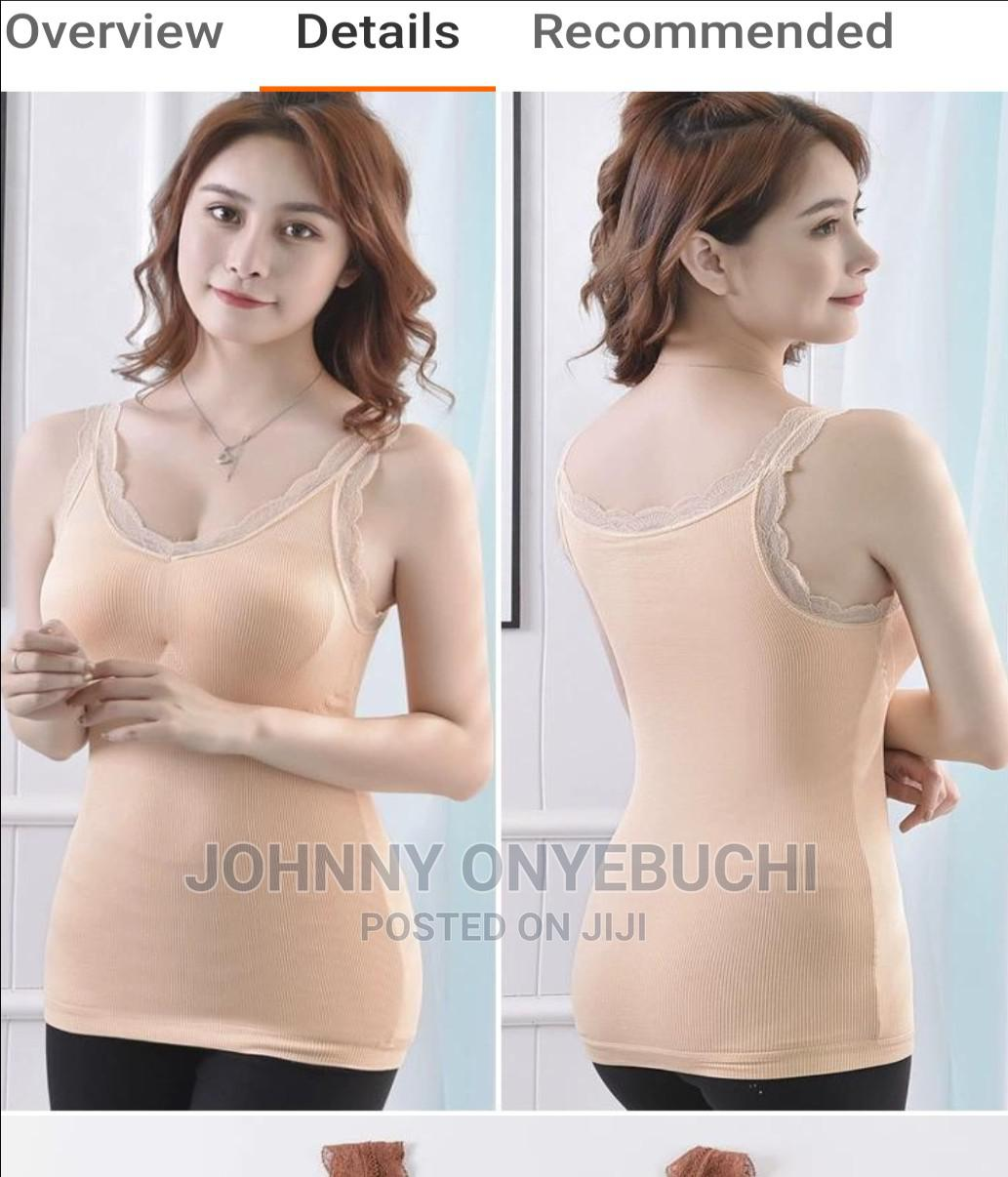 High Quality Women Camisole V-Neck Built in Bra Long Vest
