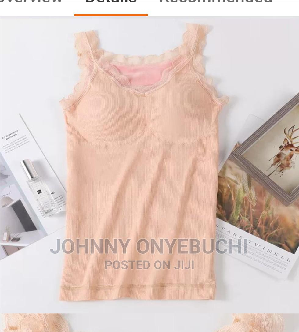 High Quality Women Camisole V-Neck Built in Bra Long Vest   Clothing for sale in Apapa, Lagos State, Nigeria