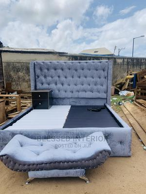 6by6 Upholstery Bed Frame With Bedsides | Furniture for sale in Lagos State, Ikeja
