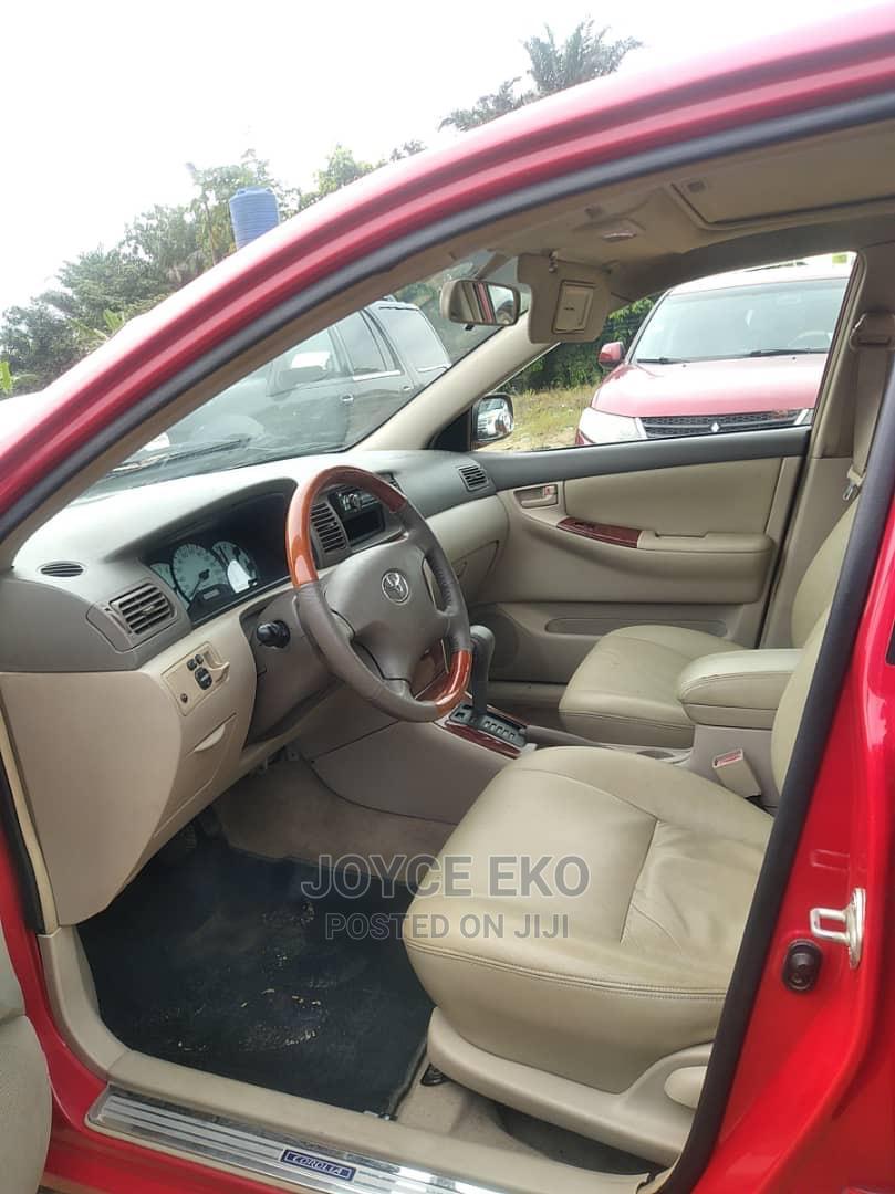 Toyota Corolla 2003 Sedan Automatic Red | Cars for sale in Warri, Delta State, Nigeria