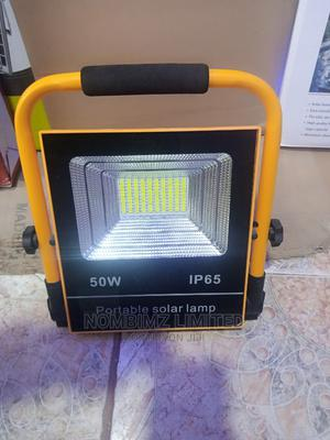 Portable 50w Solar Lamp.Cellphone Charging, USB Rechargeable | Solar Energy for sale in Lagos State, Ojo