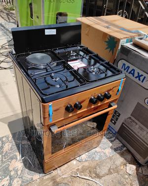 Maxi Gas Stand 3 Gas 1 Electric Auto Ignition Bottom+Oven | Kitchen Appliances for sale in Lagos State, Ojo