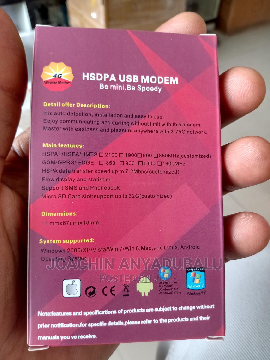 HSDPA Universal Modem USB With SIM Card Slot for All Network | Networking Products for sale in Ikeja, Lagos State, Nigeria