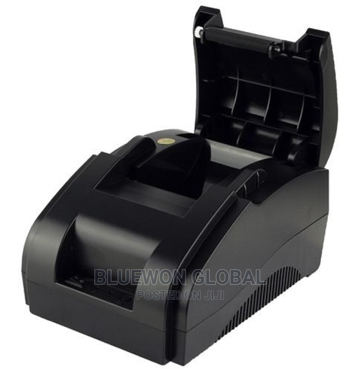58mm POS Thermal Receipt Printer (Black) Cash Receipt   Store Equipment for sale in Ikeja, Lagos State, Nigeria