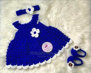 Crochet Newborn Baby Gown -Royal Blue | Children's Clothing for sale in Lagos State, Ikeja