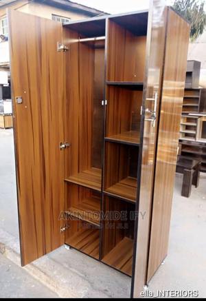 Dark Brown Stripes Wardrobes | Furniture for sale in Lagos State, Ikeja
