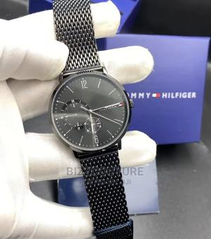 High Quality TOMMY HILFIGER Black Chain Watch for Men | Watches for sale in Lagos State, Magodo