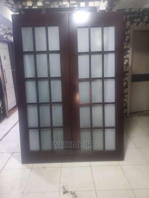 Swing Wooden Door With Glass | Doors for sale in Lagos State, Orile