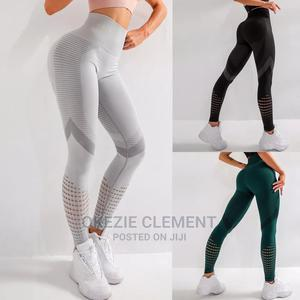 High Waist Women Fitness Running Yoga Pant   Clothing for sale in Lagos State, Surulere