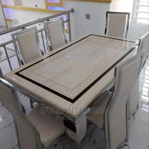 Quality Marble Dinning Table With 4 Chairs | Furniture for sale in Abuja (FCT) State, Central Business District