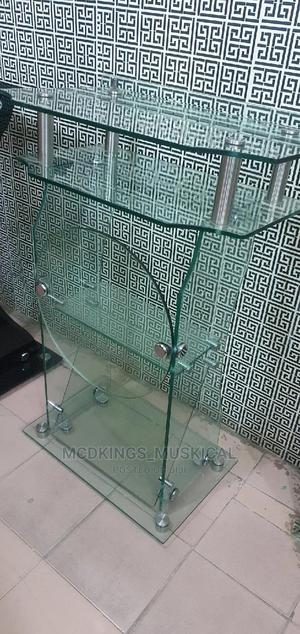 Glass Pulpit Stand With the Round Base 10 Mm Thick. | Furniture for sale in Lagos State, Ojo