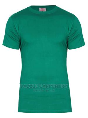 Kanin Round Neck Green T Shirt | Clothing for sale in Abuja (FCT) State, Wuse 2