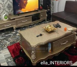 Gold Ceramic Tv Stand and Center Table | Furniture for sale in Lagos State, Ikeja
