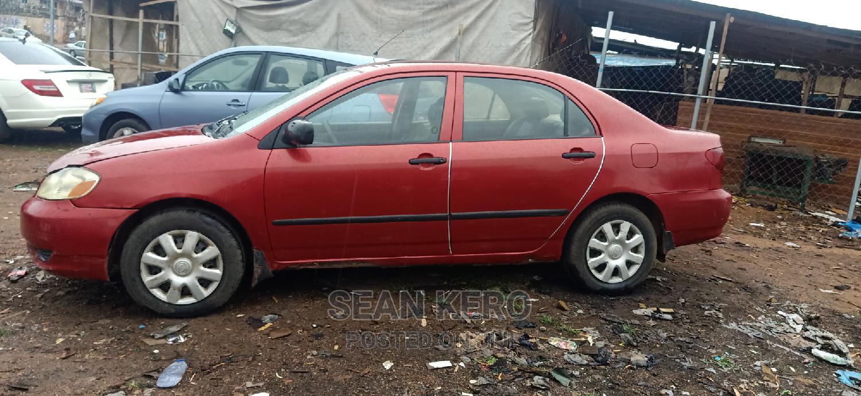 Toyota Corolla 2003 Sedan Red   Cars for sale in Oluyole, Oyo State, Nigeria