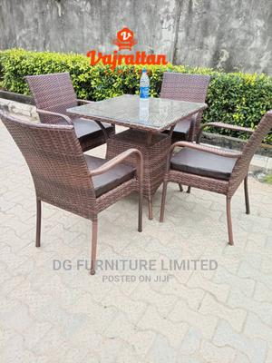 Out Door Chair by 4 and a Table With Glass Top   Furniture for sale in Abuja (FCT) State, Kubwa
