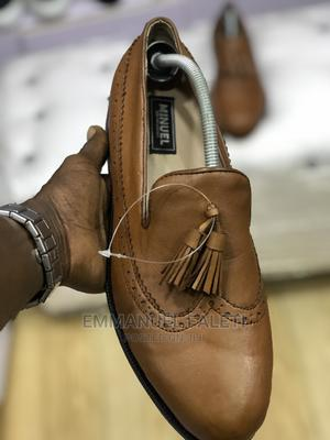 Brown Long Wing Loafers With Tassek   Shoes for sale in Lagos State, Mushin