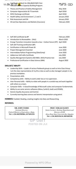 Teaching CV | Teaching CVs for sale in Abuja (FCT) State, Gwagwalada