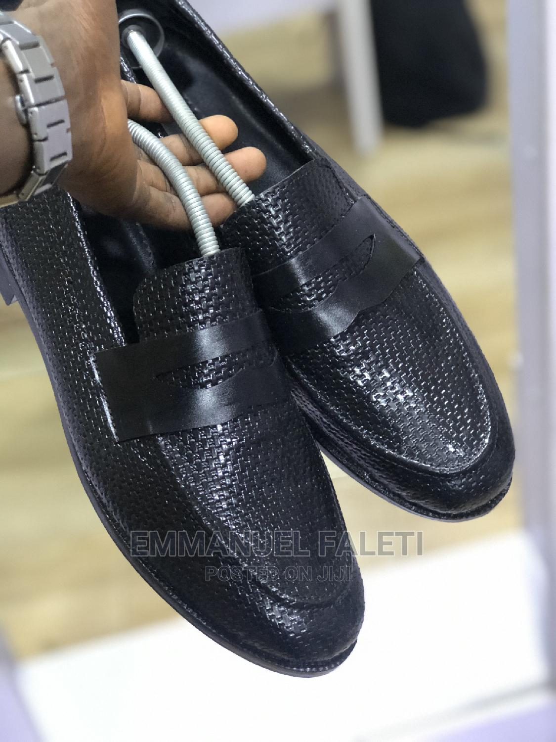 Black Basket Leather Penny Loafers   Shoes for sale in Mushin, Lagos State, Nigeria
