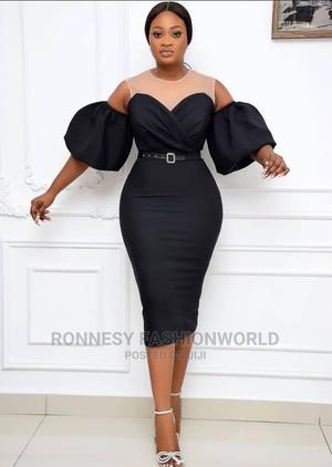 Elegant Classic Trendy Female Quality Fitted Gown With Mesh | Clothing for sale in Lagos State, Ikeja