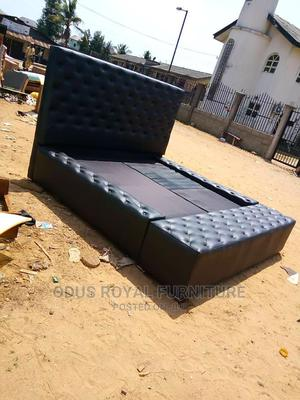Classy Leather Bed | Furniture for sale in Lagos State, Victoria Island