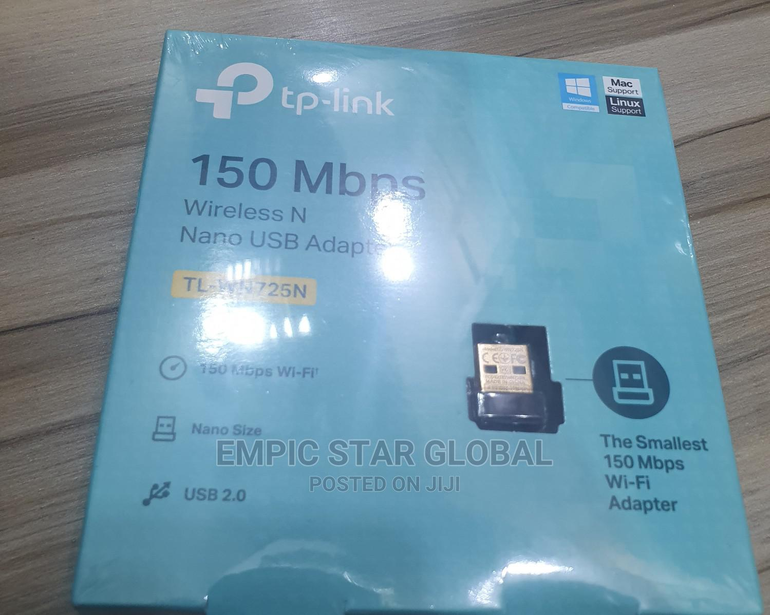 Tp-Link 150mbps Wireless N Nano USB TL-WN725N | Networking Products for sale in Ikeja, Lagos State, Nigeria
