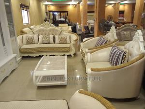 High Quality White Royal Sofa Seven Seaters | Furniture for sale in Lagos State, Ojo