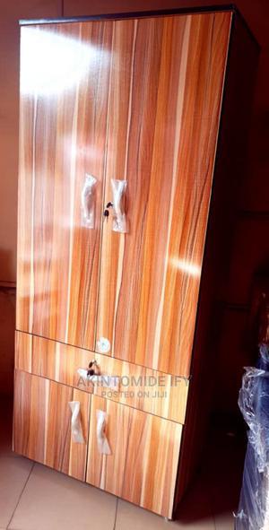 Brown Stripes Wardrobe | Furniture for sale in Lagos State, Ikeja