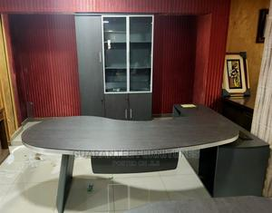 Guaranteed 2.4meter Office Table With Book Shelf   Furniture for sale in Lagos State, Ikoyi