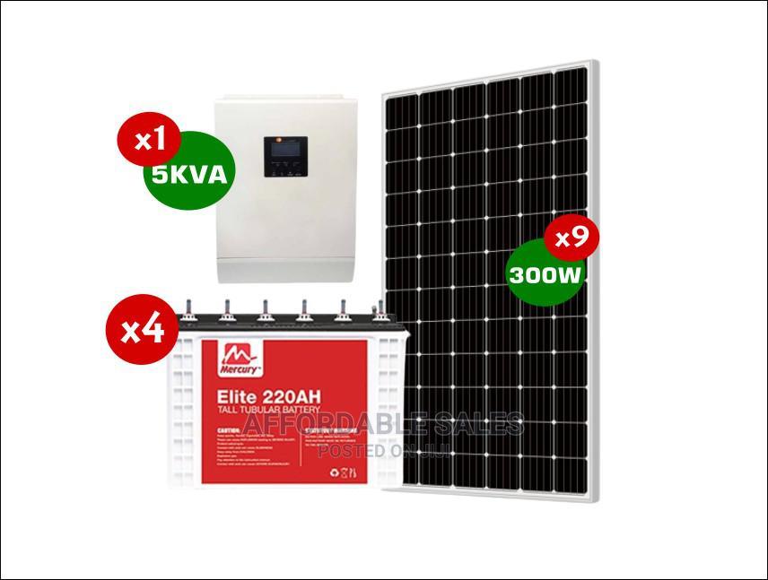 Durable 5KVA Complete Solar System (Rush Sale! +Bonuses)