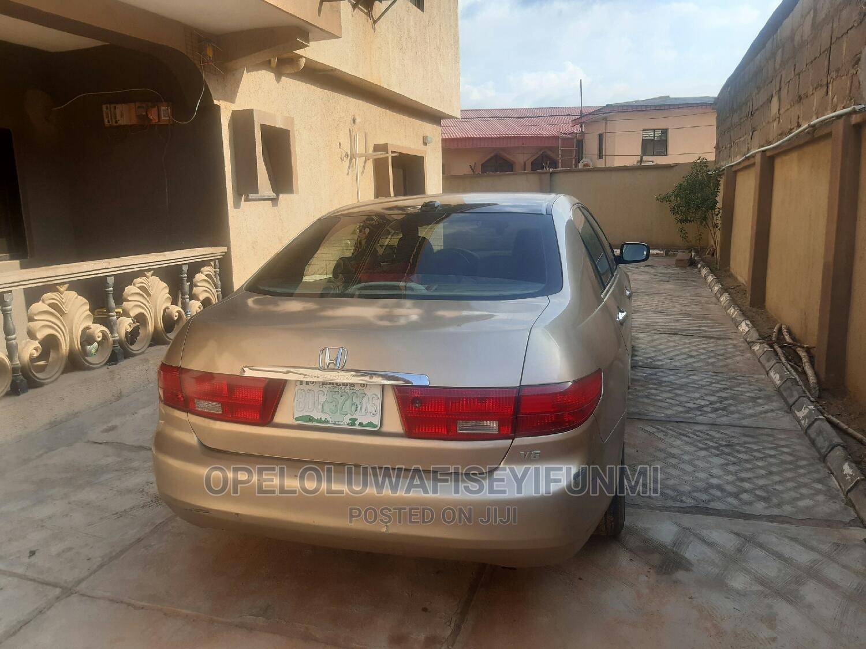 Honda Accord 2005 Sedan LX V6 Automatic Gold | Cars for sale in Abeokuta South, Ogun State, Nigeria