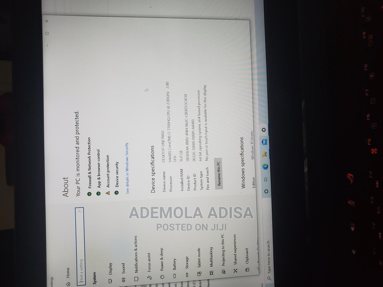 Archive: Laptop Asus ROG Strix GL503 16GB Intel Core I7 HDD 1T