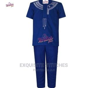2pcs Boys Native- Royal Blue With White Embroidery | Children's Clothing for sale in Lagos State, Ogudu