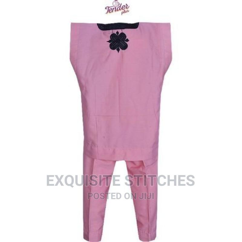 Baby Pink Danshiki Native With Black Embroidery   Children's Clothing for sale in Ojodu, Lagos State, Nigeria