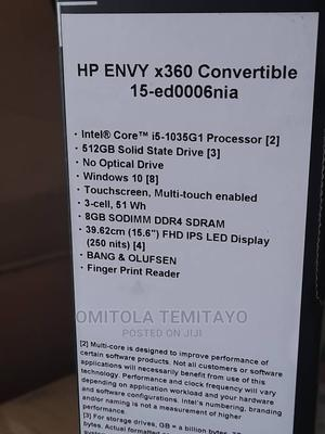 New Laptop HP Envy 15 8GB Intel Core I5 SSD 512GB | Laptops & Computers for sale in Lagos State, Ikeja