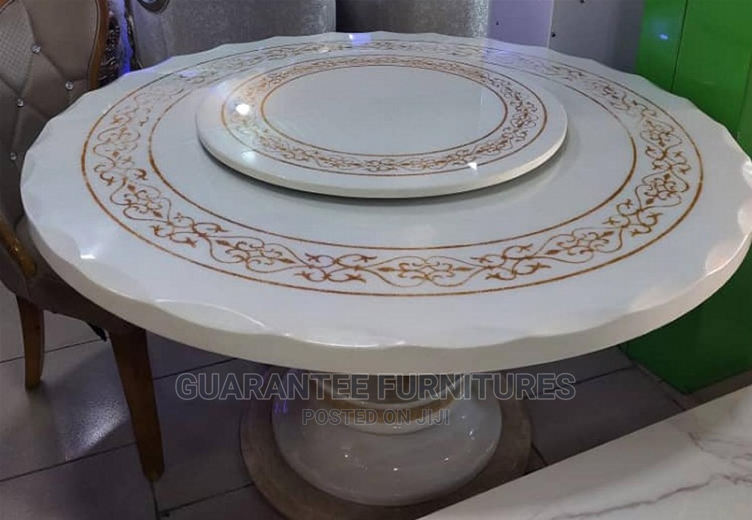 High Quality Modern 6 Seaters Marble Round Dining Tables
